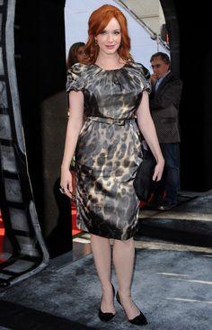Stunning hourglass Christina Hendricks ...Voguish mode... She starred as Natalie in Ginger & Rosa (2012)