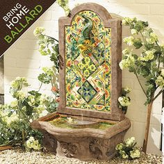 Chianna Fountain - I don't have a yard, but if I did, I would want this. Haha.