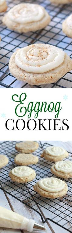 This Eggnog Cookies recipe resembles the taste of cinnamon buns, with a hint of eggnog to jazz it up a little. Perfect for a holiday cookie exchange.