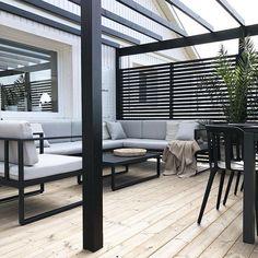 Backyard Pergola Plans - Pergola Attached To House Garden Structures - - Pergola Garten - Pergola Deck Lights - Pergola Terrasse Plexi Patio Deck Designs, Patio Design, Patio Ideas, Landscaping Ideas, Backyard Ideas, Terrace Ideas, Decks, Black Pergola, Black Deck