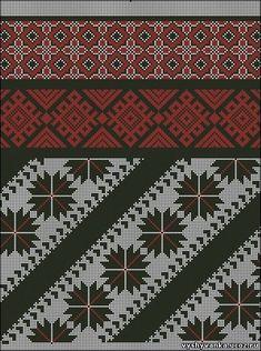 Gallery.ru / Фото #60 - схемы для вышиванок - zhivushaya