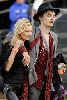 Pete Doherty und Kate Moss im Jahr 2007