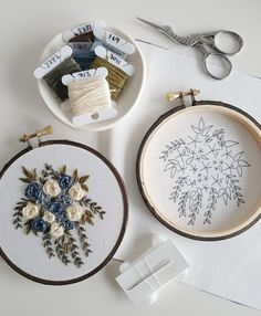 How To Finish The Back Of Your Embroidery Hoop With Felt: Tutorial – Fabric Fun Floral Embroidery Patterns, Embroidery Stitches Tutorial, Embroidery Flowers Pattern, Simple Embroidery, Modern Embroidery, Embroidery Hoop Art, Hand Embroidery Designs, Crochet, Couture