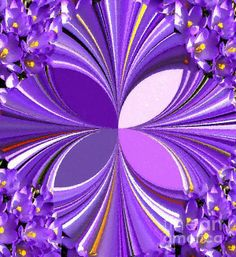 Purple Polka Dot Crocus by Barbara Griffin. A digital design made with a photograph of purple crocuses.