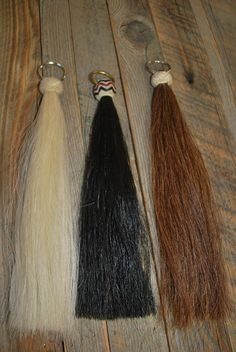 Beautiful Horse Hair Shu Fly With Braided Rawhide Knot