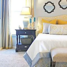 4 Good Cool Tips: Small Bedroom Remodel Apartment Therapy bedroom remodel on a budget style.How Long Does It Take To Remodel A Bedroom. Green Master Bedroom, Blue Bedroom, Bedroom Colors, Bedroom Wall, Master Bedrooms, Girls Bedroom, Master Suite, Bedroom Ideas, Living Room Color Schemes