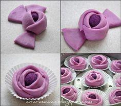 Pau Mawar Keledek / Sweet Potato Rose Pau ~ Resepi Terbaik