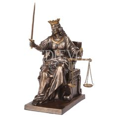 Seated Justice Statue - CC9762 by Medieval Collectibles