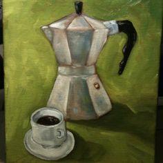 """Italian espresso 8""""x10"""" oil on canvas"""