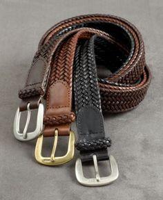 Polo Ralph Lauren Accessories, Chunky Leather Braid Belt - Mens Big & Tall Belts - Macy's