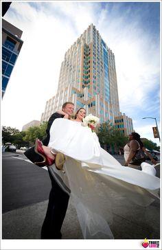 fun playful urban edgy wedding photo. truelovephoto.com