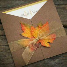 Inspiração para um casamento no outono. #casamento #inspiração #outono #convites