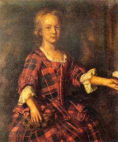 Helen Murray of Ochtertyre, painted by an unknown artist just before the 1745 Rising. 18th century Scottish women's clothing.