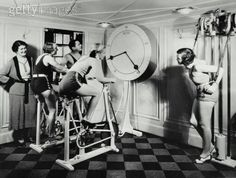 Group Exercising  #fitness #vintage #health