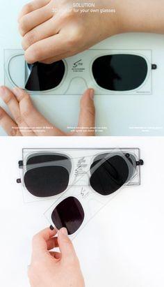 3D sticker for glasses,