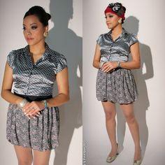 Forever 21 Skirt, Naturalizer Heels, H&M Bracelet http://pslilyboutique.blogspot.com/2013/11/gray-new-black.html #lookbook #style #fashion #pslilyboutique #gray