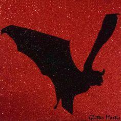 Flying Vampire Bat Glitter Wall Art  Goth Lolita Home Decor  Gothic Halloween Horror Art (24.99 USD) by GlitterMortis
