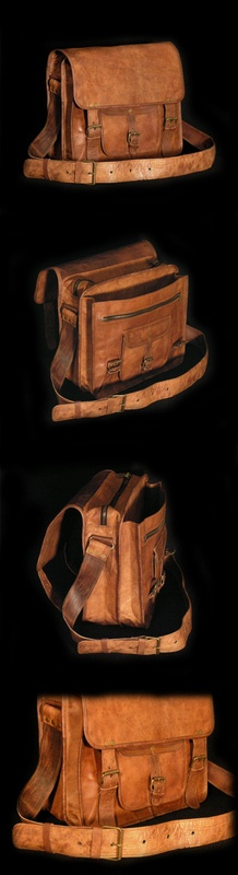 Gorgeous unisex Indiana Jones-style satchel. The perfect professional carry-all.