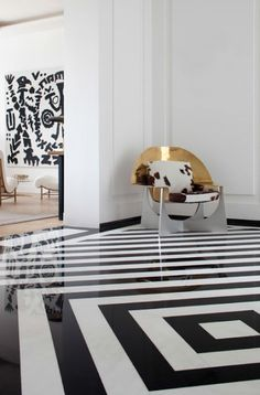 Black and white tiles home furniture design ideas, design ideas, design ideas for home, design ideas for living rooms, design ideas for hallways, design ideas for dining rooms, design ideas for bedrooms, design ideas for offices, design ideas for children's room get inspired on: http://www.bocadolobo.com/en/inspiration-and-ideas/