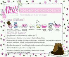 Volcan de chocolate