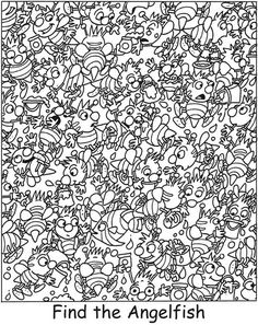 Spark silly sea life find it! color it! -- 6 sample pages wi Hidden Picture Games, Hidden Picture Puzzles, Hidden Object Puzzles, Hidden Objects, Colouring Pages, Coloring Pages For Kids, Educational Activities, Preschool Activities, French Language Learning