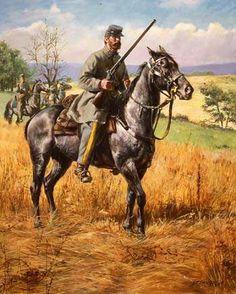 4th Virginia Cavalry, by Don Troiani. (www.dontroiani.com)