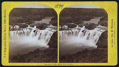 Photo of Stereograph,Shoshone Falls,Snake River,Idaho,ID,Waterfalls,1874 [link removed]