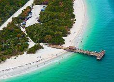 Sanibel Lighthouse Beach with Pier: http://beachblissliving.com/sanibel-island-worlds-best-shelling-beaches/