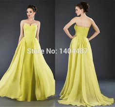 Long Yellow Prom Dresses 2016 A Line Sexy Backless Evening Gowns Sweetheart Sleeveless Formal Dresses Court Train Vestido Baile