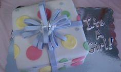 "Baby Shower ""present"" cake"