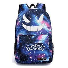 Amazon.com: Honhuiqixin Pokémon go Noctilucent School Backpack Canvas laptop Bag…