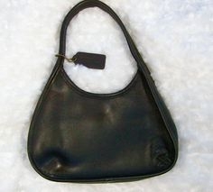 "Coach Satchel Handbag Brown1997 Ergo Leather 9027 Espresso Brown Purse Small 10"" #Coach #MiniSatchel"