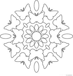 Free mandalas coloring  Animal Mandalas  Animal Mandala Design 6 - Butterfly 2