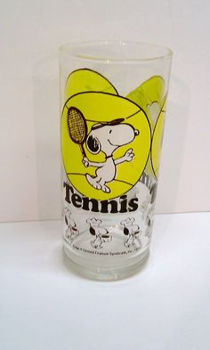 vintage tennis glass