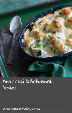 Traditionally, cooked broccoli is rolled in Greek cheese and then baked until golden. This recipe adds a new layer by incorporating a classic béchamel which brings all the flavours together. Serve with roast chicken or lamb. Lamb Roast Recipe, Roast Lamb, Roast Chicken Recipes, Tasty Broccoli Recipe, Broccoli Bake, Broccoli Recipes, Baked Brie Recipes, Cheese Recipes, Greek Lamb Recipes