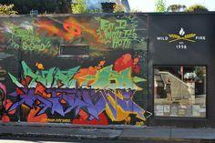 Art on bakery. Victoria, BC