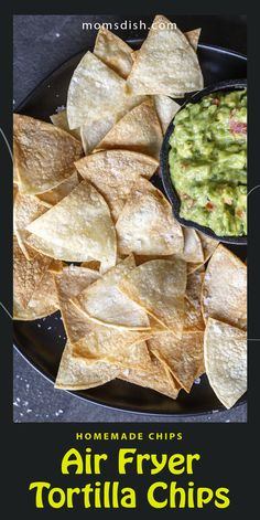Air fryer tortilla chips are the best snack for any day, they are super easy to make and perfect for any summer night. These chips require only 3 ingredients and are great for any movie night or as an addition to taco night. #airfryerrecipes #airfryertortillas #homemadechips Soup Recipes, Chicken Recipes, Dessert Recipes, Homemade Chips, Good Food, Yummy Food, Delicious Magazine, Best Appetizers, Tortilla Chips