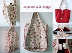 ...le jardin á la Meggi... Reusable Tote Bags, Handmade, Hand Made, Craft