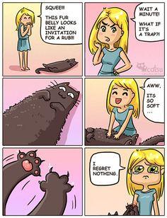 Cat underbelly trap