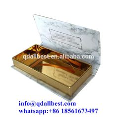 Private Label Custom Marble Artwork Printing False Eyelash Packaging Box with Magnet