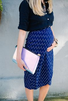 A 2ND TRIMESTER WRAP SKIRT - The Southern Style Guide Bump Style