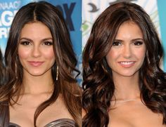 Victoria Justice and Nina Dobrev.. I,am not sure what do You think