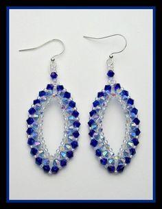 Raining on Prom Night Earrings PDF Pattern by offthebeadedpath Bead Jewellery, Seed Bead Jewelry, Seed Bead Earrings, Blue Earrings, Diy Earrings, Diy Jewelry, Jewelery, Handmade Jewelry, Jewelry Design