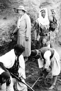 Agatha Christie at the dig site at Chagar-Bazar. Read about it in Come Tell me How You Live, a memoir with charm and humour.