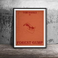 Movie poster printForest Gump-alternative poster by OandBstudios