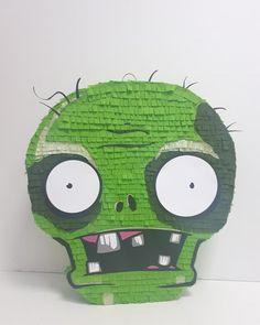 Zombie Birthday Parties, Zombie Party, Halloween Party Games, Halloween Movies, Birthday Diy, Halloween 2020, Pinata Halloween, Plants Vs Zombies, Maquillage Halloween