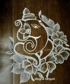 784 Rangoli designs awe-inspiring designs for your home Simple Rangoli Designs Images, Rangoli Designs Flower, Rangoli Designs Latest, Rangoli Border Designs, Rangoli Designs With Dots, Rangoli Ideas, Rangoli Designs Diwali, Kolam Rangoli, Beautiful Rangoli Designs