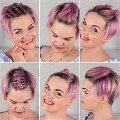 Short and medium hairstyles 2020: 150 beautiful ideas! Medium Short Hair, Very Short Hair, Short Straight Hair, Short Curly Hair, Medium Hair Styles, Curly Hair Styles, Elegant Hairstyles, Latest Hairstyles, Braided Hairstyles