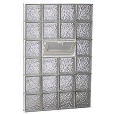 Redi2set Ice Glass Pattern Frameless Replacement Glass Block Window (R