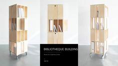 Bibliothèque Building Meuble de rangement mobile Design Valérie Windeck